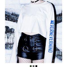 Black Coated Frayed Hem Shorts (£22) ❤ liked on Polyvore featuring shorts, high waisted zipper shorts, grunge shorts, high-rise shorts, highwaist shorts and high waisted shorts