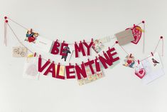 14 Lovely Valentine Garlands via MakelyHome.com using all of my vintage and saved valentines!