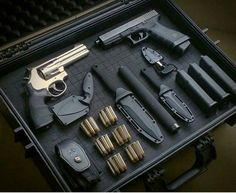 Our Pro Shop is fully stocked with firearms accessories and lifestyle gear, including rifle kits, ammunition, clothing, law enforcement supplies and more. Weapon Storage, Gun Storage, Weapons Guns, Guns And Ammo, Apocalypse Survival, Survival Gear, 357 Magnum, Gun Cases, Home Defense