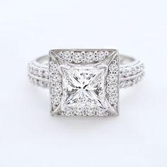Mani Jewel 1.24ct Solitaire Princess Round Brilliant Cut Natural VVS Diamond Engagement Ring Heavy 14k White Gold #Mani #Jewel #Engagement #Ring