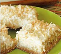 Hawaiian Cheesecake Bars.....with pineapple and coconut