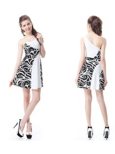 Mini One Shoulder Sleeveless Animal Print Dress