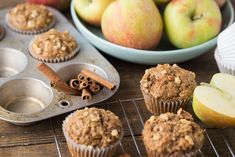 Healthy Apple Spice Muffins the Kids (and you) will Love (Super Healthy Kids) Honeycrisp Apples, Spiced Apples, Caramel Apples, Apple Recipes, Baby Food Recipes, Masquerade Cakes, Brown Sugar Oatmeal, Fall Snacks, Super Healthy Kids
