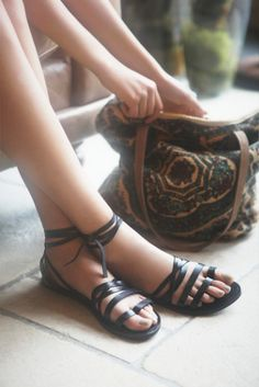 FP Collection Womens HARPOON WRAP SANDAL - Bohemian Summer Fashion Trend 2017