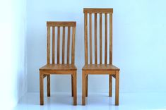 Handmade chairs in French Oak for a Paris client High Back Dining Chairs, Oak Dining Chairs, Dining Table In Kitchen, Kitchen Chairs, Kitchen Furniture, Dining Tables, Bespoke Furniture, Benches, Handmade