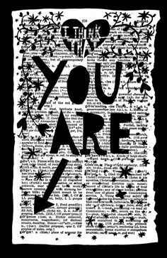 Rob Ryan I think that you are gorgeous Paper Cut Journal Inspiration, Journal Ideas, Creative Inspiration, Book Crafts, Paper Crafts, Paper Paper, Cut Paper, Wrapping Gift, Collages