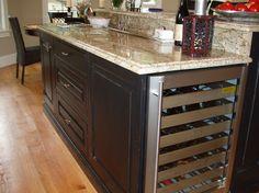 About kitchen island remodel wine fridge install on pinterest wine