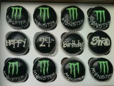 Monster Energy Drink Cupcakes By MadEm on CakeCentral.com