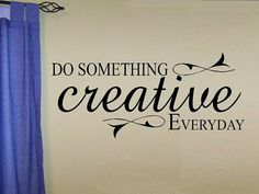 vinyl wall decal quote Do something por WallDecalsAndQuotes en Etsy