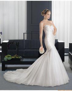 2015 Meerjungfrau Moderne Trendige Brautkleider aus Organza mit Applikation