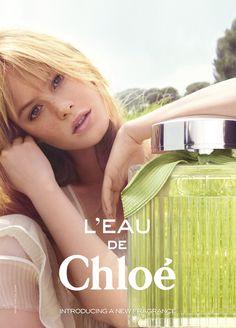 L'eau de Chloé Fragrance Ad Campaign Featuring Camille Rowe