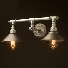 Plumbing Pipe Double Wall Shade Lamp rustic shades