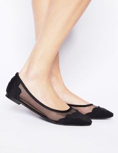 Scalloped mesh flats by Super