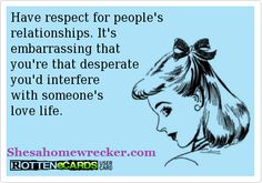 You had your fling you are the past now go take care of your family. Respect yourself