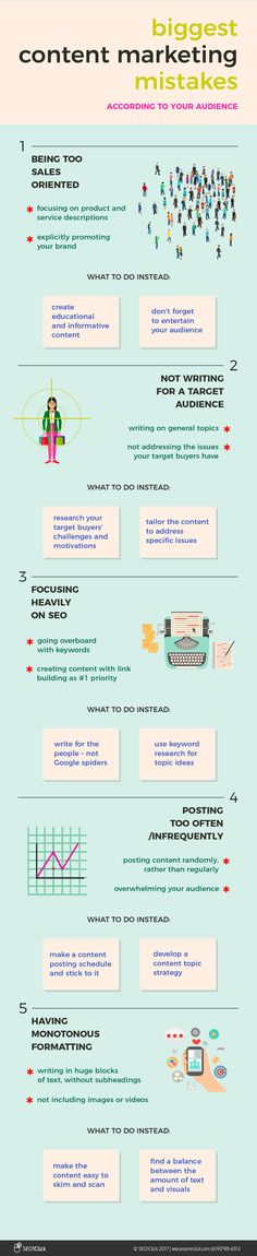 5 Content Marketing Mistakes That Turn Your Audience Off [Infographic] - @redwebdesign