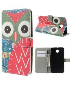 Motorola Nexus 6 Lederen Owl Flip Case