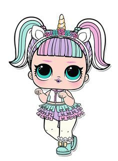 Unicorn Series 3 L O L Surprise Doll Coloring Page Eli Inspired