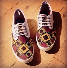 White African Print Plimsolls on Etsy, €45.00