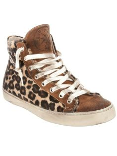 LEATHER CROWN W395 PONY LEOPARD Horse Rubber Suede | Diadem Gym Shoes Sneakers Tennis Footwear Jewelled