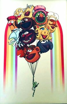 Muppets by Holly Currance Jim Henson, The Muppet Movie, The Muppets, Sesame Street Muppets, Fraggle Rock, Miss Piggy, Kermit The Frog, Disney Love, Cartoon Wallpaper