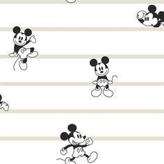 York Wallcoverings Mickey Mouse Stripe Wallpaper   DI0932