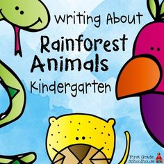Rainforest Animals Kindergarten includes writing printables for ten different rainforest animals: bird, butterfly, elephant, frog, leopard, lizard, monkey, parrot, snake, and toucan. I also include one printable for students to choose a rainforest animal that is not included in the packet.