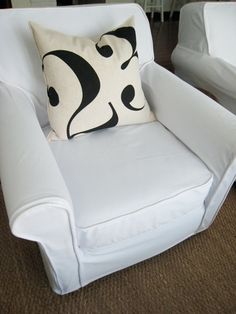 Step by step how to slipcover a chair - 2 part series