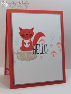 I used the Stampin' Up! Foxy Friends and Oh Happy Day stamp sets to create a quick card to share with you today.
