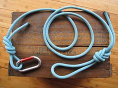 Recycled Climbing Rope & Carabiner Dog Leash by LittleCityFarms, $22.00