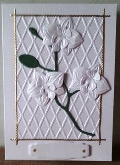 Kaart met orchideeën