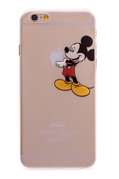Mickey Mouse Transparent Back Cover Case for iPhone 6