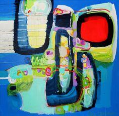 "Saatchi Online Artist: Claire Desjardins; Acrylic, 2012, Painting ""Work it Out"""