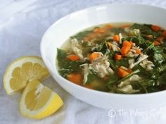 Lemon Chicken Soup:  An Easy, Healthy Dinner