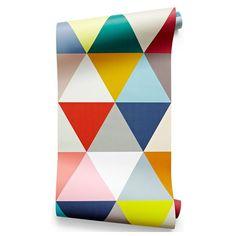 Mosaic multicolore, triangle, géométrique - Minakani Lab