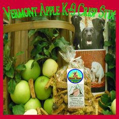 Our Web Site Photo for our Vermont Apple K-9 Crisp Stix at http://www.HouseWoofDogBiscuits.com