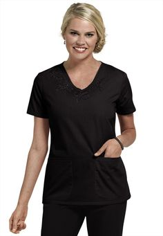 Dickies Jr. Fit V-Neck Embroidered Scrub Top Available in 6 colors at  Uniformed