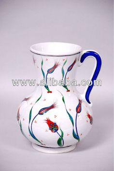 Ceramic iznik tankard hand made tulip design