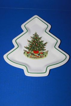 Cute Pfaltzgraff Christmas Tree Shaped Candy Dish Plate