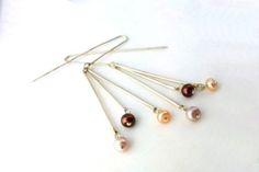 Aros Plata 925 y Perlas - Silver and Pearls - Leonor Broide Joyeria Contemporanea - Contemporary Jewelry