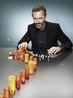 Tip one Vicodin pill and the rest come crashing down. #housemd