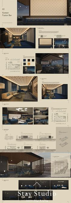 [Stay Studio] Interior Portfolio Interior Portfolio / Korean Fusion … - All For Decorations Design Portfolio Layout, Architecture Portfolio Layout, Portfolio Examples, Layout Design, Architecture Design, Architectural Portfolio Design, Victorian Architecture, Portfolio Website, Bar Interior