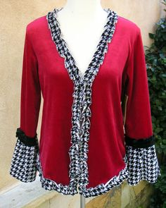 Women's Large Upcycled Cardigan Sweater by EchoClothingCompany, $35.00