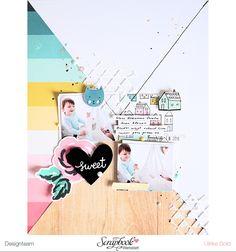Layout *Sweet* - Crate Paper *Cute Girl* - Scrapbook Werkstatt Sketch des Monats Okt. 2016 - von Ulrike Dold