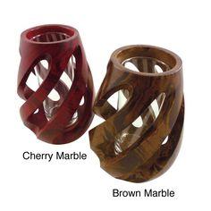 Mango Wood Spiral Vase (Thailand)   Overstock.com Shopping - The Best Deals on Vases