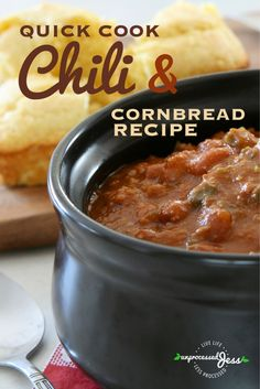 Quick-Cook Chili with Corn bread Recipe