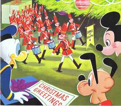 Vintage Disney CompanyChristmas Card. This one celebrating the release of Babes in Toyland