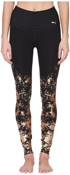 6c9490d38f3cf9 Black and gold Premium Tights for Workout #puma #leggings #affiliate  Goldene Gamaschen,