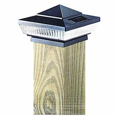 Wilson Fisher Solar Black Deck Post With Light Cap 4 Pack