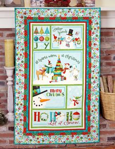 """""""Ho Ho Ho! Quilt"""" by Michele Crawford (from The Quilter Magazine Holiday 2013 issue)"""