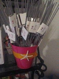Paper matches around sparklers
